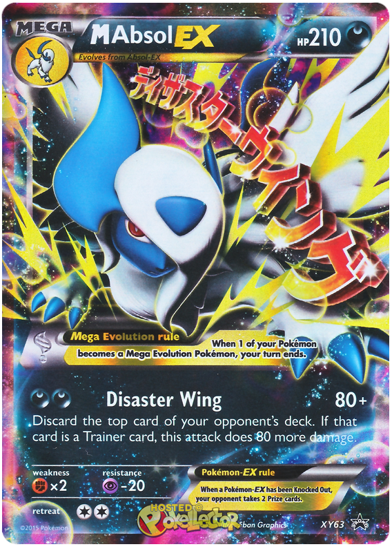 XY62 and XY63 Absol EX and M Absol EX NM Pokemon Promo Card Set